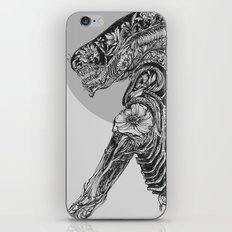 Floral Aline Black and White iPhone Skin