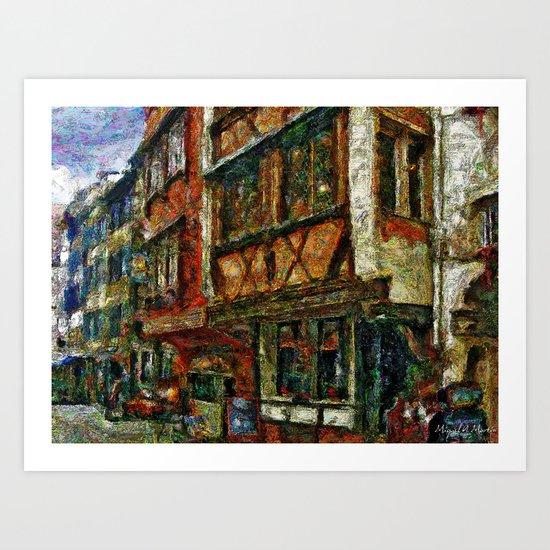 Street in Alsace Art Print