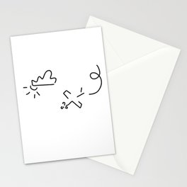 airplane flight show stunt pilot Stationery Cards