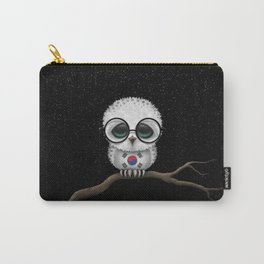 Baby Owl with Glasses and South Korean Flag Carry-All Pouch