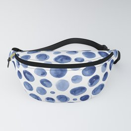 Watercolor Blue Dots Pattern Fanny Pack