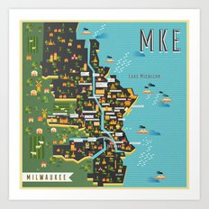 Mapping  Milwaukee Art Print