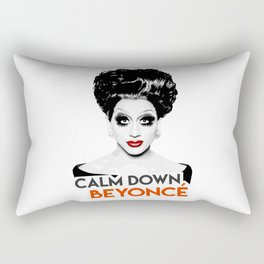 """Calm down Bey!"" Bianca Del Rio, RuPaul's Drag Race Queen Rectangular Pillow"