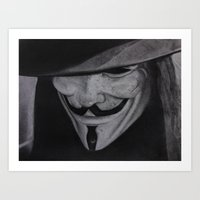 vendetta Art Prints featuring Vendetta by jsanmateo