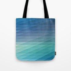 Fig. 042 Blue Geometric Diagonal Stripes Tote Bag