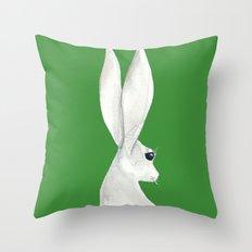 tenzin rabbit Throw Pillow