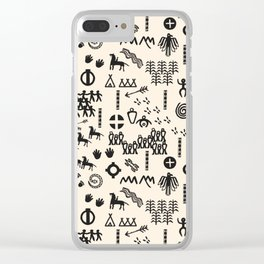 Peoples Story - Black and Creme Clear iPhone Case