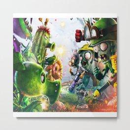 Zombie vs plants Metal Print