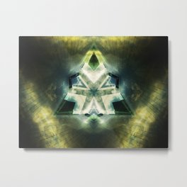 Triangle of light. Abstract Artwork. Metal Print