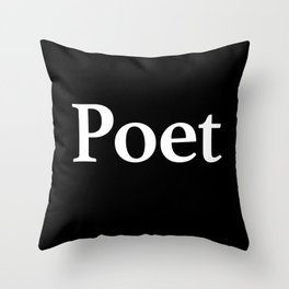 Poet inverse Throw Pillow