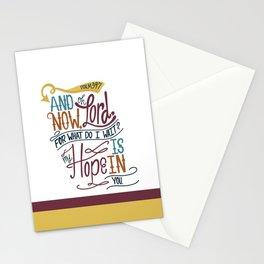 Psalm 39:7 Stationery Cards