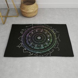 Astrological Magic Circle Rug