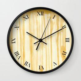 Tea Stain Wall Clock