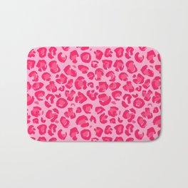 Pink Leopard Pattern Bath Mat