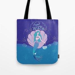 Mermaid Sweet Dreams Beach Tote Bag