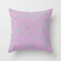 Trapped Pink Throw Pillow