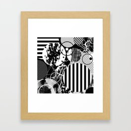 Black And White Choas - Mutli Patterned Multi Textured Abstract Framed Art Print