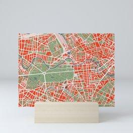Berlin city map classic Mini Art Print