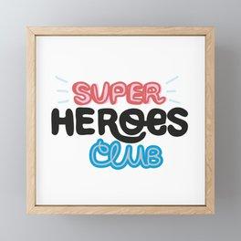 Super Heroes Club Framed Mini Art Print