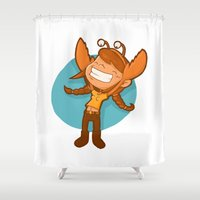 cancer Shower Curtains featuring Cancer by Chiara Zava