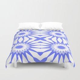 Periwinkle Blue Pinwheel Flowers Duvet Cover