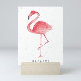 Flamingo Balance Art Print Mini Art Print