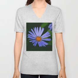 Blue Daisy Unisex V-Neck