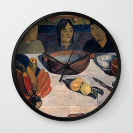 Paul Gauguin - The Meal, also called Bananas (1891) Wall Clock