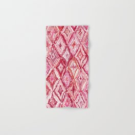 Red BRIGHT LIKE A DIAMOND Moroccan Print Hand & Bath Towel