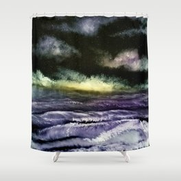 Lavender Waves Shower Curtain