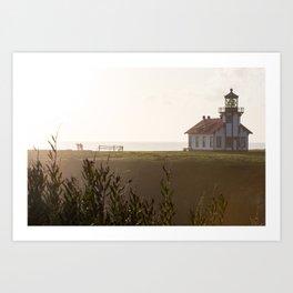 Point Cabrillo Light Whale Watchers Art Print