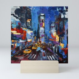 Saturday Night in Times Square Mini Art Print