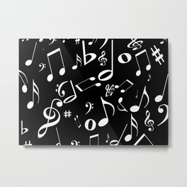 Music in the Air Black Metal Print