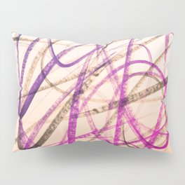 Expressive Royal Fuchsia and Lavender Abstract Pillow Sham