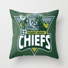 Forest Moon Chiefs - Green Throw Pillow