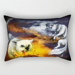 Hati and Skoll Rectangular Pillow