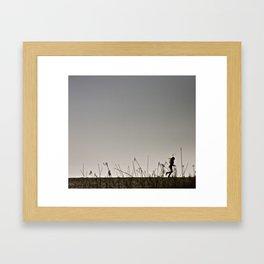 Beach Run Framed Art Print