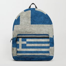 Flag of Greece, vintage retro style Backpack