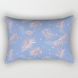 Rose quartz palm leaf Rectangular Pillow