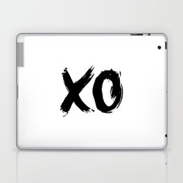 XO Hugs and Kisses black and white xoxo gift for her girlfriend bedroom art and home room wall decor Laptop & iPad Skin