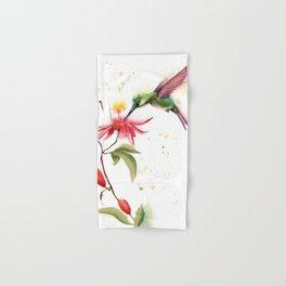 Hummingbird and flower Hand & Bath Towel