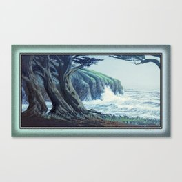 WINDSWEPT CYPRESS TREES ON THE MENDOCINO COAST CALIFORNIA Canvas Print