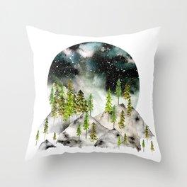 Organic Seclusion Throw Pillow