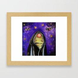 Space Demon Framed Art Print