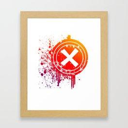 X vector Framed Art Print