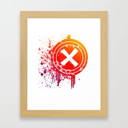 X vector Framed Art Print