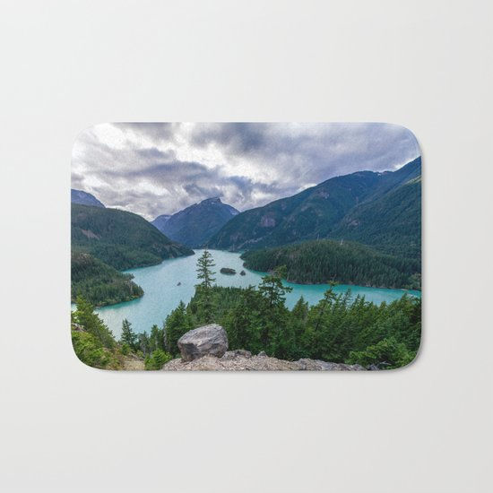 Crushing clouds Bath Mat