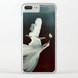 Swan Lake Angel Clear iPhone Case