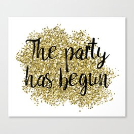 The party has begun - golden jazz Canvas Print