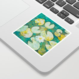 Serene Lily Pond Sticker